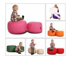 Classic Tiny XS Hocker Sitzhocker Dekohocker Sitzwürfel Möbel Rund Kunstleder