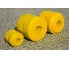 Kunststoffschwimmer für Hydrotransport 110 mm  Polyethylen gelb orange rot