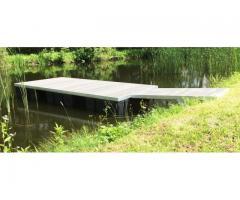 Schwimmponton Aluminium Schwimmkörper Pontonboot Partyfloss 4x2x0,5  Fallreep 1,87x1,07