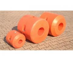 Kunststoffschwimmer Polyethylen Hydrotransport 315 mm zylinderförmig gelb orange rot