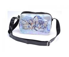 Jugendtasche Tasche TM216 Zwei Katzen,  Messengertasche Umhängetasche