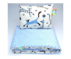 Babybettwäsche Kinderset Bettenset Minky Kissen Decke