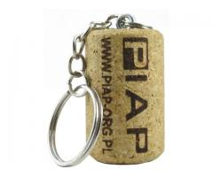 Weinkorken-Schlüsselanhänger mit beliebiger Gravur, Logo etc. Originelles Werbemittel