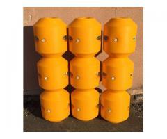 Kunststoffschwimmer PERohre Rohrleitungen Kabelleitungen Hydrotransport 110 160