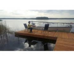 Ponton Schwimmkörper Schwimmplattform Kunststoff Hausboote 100x50x42 Flöße