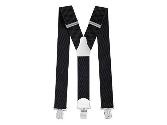 Herrenhosenträger Form Y 5cm breit 130cm lang elastisch stark schwarz