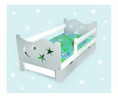 Kinderbett mit Sternen Babybett Jugendbett 80x160 Bettkaste