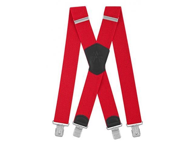 Herrenhosenträger Form X 5cm breit 130cm lang 4 starke Metallklipps elastisch