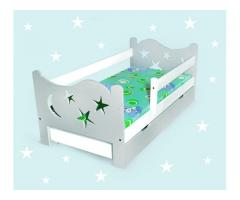 Kinderbett mit Sternen Babybett Jugendbett Matratze 70x140