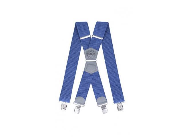 Herrenhosenträger Form X 5cm breit 130cm lang 4 starke Metallklipps