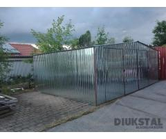 Blechgarage Stahlhalle 6x6x2,14m inkludiert Aufbau und Transport Autolager Garage Halle Schuppen