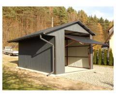 Blechgarage Stahlhalle Gartenlager Autolager 4 x 6,25 m Schuppen Lagerhaus Fertiggarage
