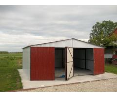 Blechgarage 6 x 5 m Stahlhalle Autolager Lagerhaus Schuppe inkl Aufbau + Transport