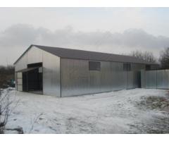 Halle Lagerhaller Stahlhalle Garage 8,5 x 18m