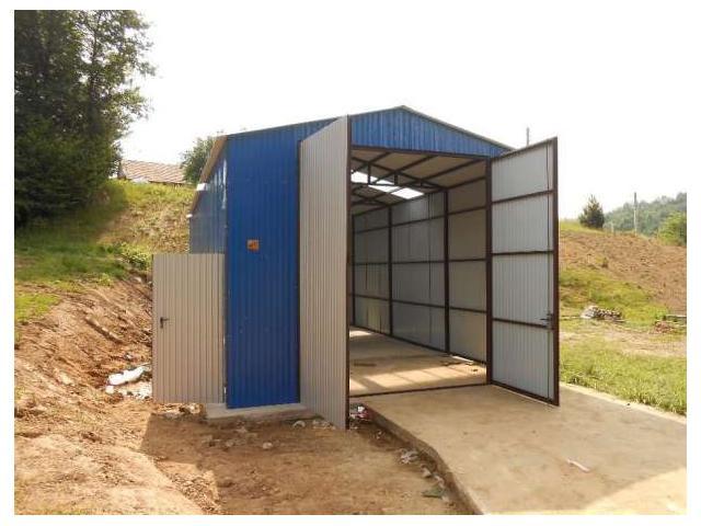 Blechgarage Fertiggarage Stahlhalle Garage Halle aus Blech + Lieferung u. Aufbau