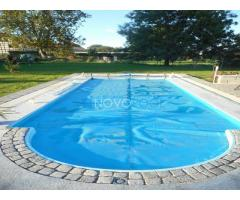 GFK POOL Schwimmbecken 8,50 x 3,70m Schwimmpool Fertigbecken SET